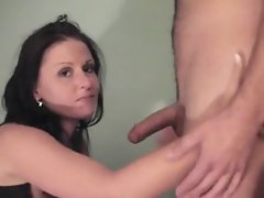 amateur dark haired fuck nympho facial
