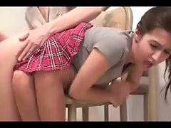 daughter Gets Nice Spanking By not her momma By twistedworlds