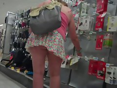 exposed butt bending upskirt