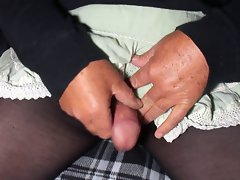 Green Mini Skirt Fun