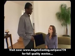 Amateur tempting sensual redhead lassie talking with a nigger lad