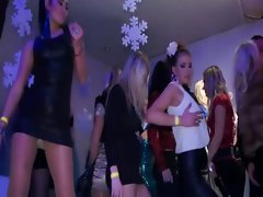 Attractive pornstar ladies dancing at party and crave shaft