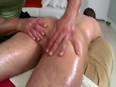 Straight chap rimmed by gay bear masseuse