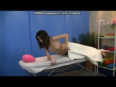 Oil massage porn with sensual dark haired chick