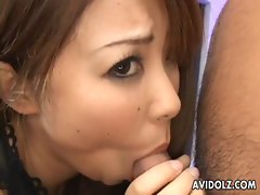 Charming graceful Asian Mimi Kousaka Point of view dick sucking