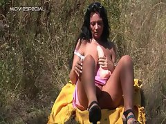 Alluring Mummy gets banged rough outdoor