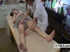 Subtitled perky Seductive japanese mum spread butch massage
