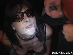 Slutwife Cumshot Party in June 2013
