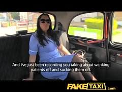 FakeTaxi Adventures of a taxi cab with mega big melons and tig