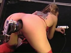 Extreme machine naughty ass banging