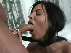 Veronica Rayne gets her mouth stuffed with stiff penis