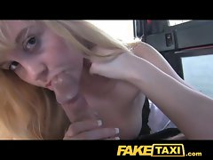 FakeTaxi Very hairy ginger vagina struggles with extremely big cock