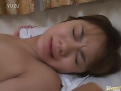 Asian sweetie moans as her quim is stuffed