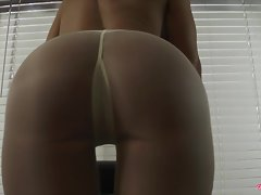 A flawless butt in pantyhose