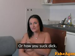 FakeAgent HD Mega tits amateur plays wild to get