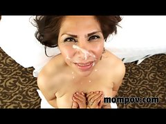 Large melons Spanish seductive mom