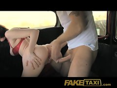 FakeTaxi Doggy style back seat enjoyment