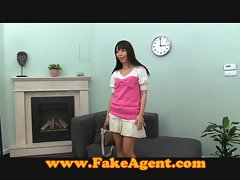 FakeAgent Tempting Sensual japanese lass accepts big facial