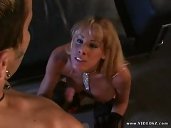 Nicole Sheridan gets her face drenched with warm jizz