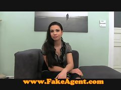 FakeAgent Creampie for lewd amateur
