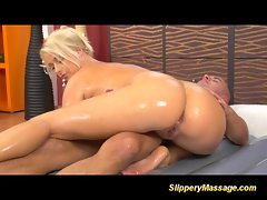Slippery nuru massage blondie