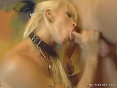 Bawdy Cony Ferrara stuffs her mouth with stiff penis