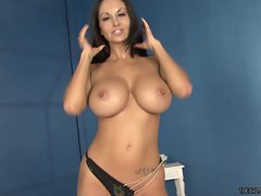 Perfect Ava Addams exposes her adorable round knockers