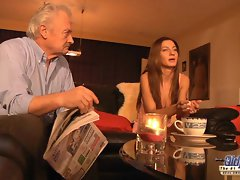 Grandpa is Banged by Seductive Chick in News vs Romantic