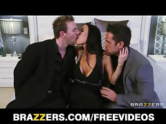 Vanilla Devile gets double teamed by her man's friends
