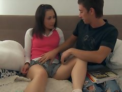 Butt drilling for stiff tiny barely legal teen