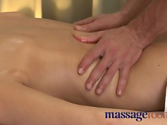 Massage Rooms Attractive mom bushy muff given orgasm