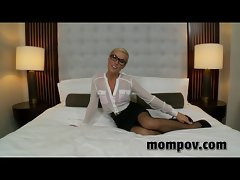 Blond secretary screwed in the butt