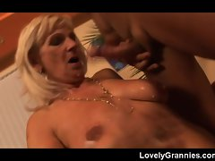 Granny Banging a attractive hard throbbing cock