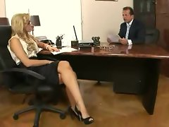 Sexual secretary Aleksa Diamond gets the bosses boner