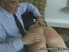 Raunchy schoolbabes get spanked