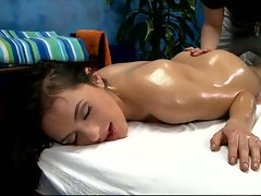 Melaine delights a full body massage