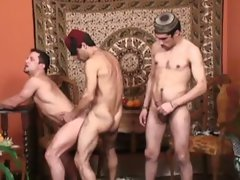 Randy arabian twinks loves threesome.