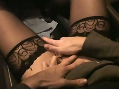 Sensual german cougar suck shaft in the car