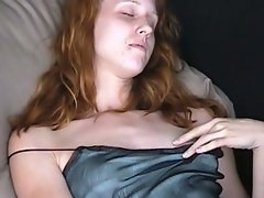 Natural redhead jessica fingers under panties