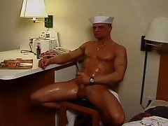 Muscled sailor bangs his twink roommate