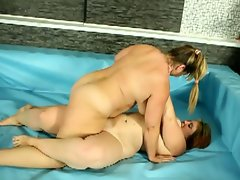 Bbws wrestling for phallus