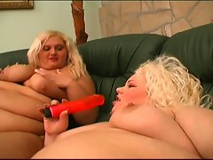 Trio with two blondie bbws