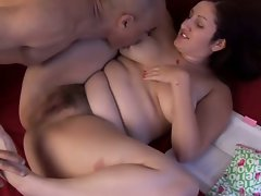 Plumper very hairy vixen gets it in her sexy fanny