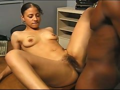 Latina gets a large dark shaft for audition