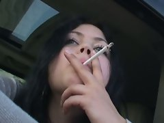 Attractive buxom sizzling teen shione cooper smoking
