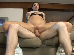 Attractive dark haired stepmom screwed wild