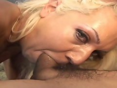 Latino screws tempting blonde mamma