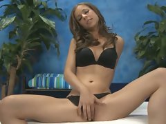 Beautiful presley hart gives a massage