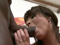 Buxom stepmom screws large black pecker