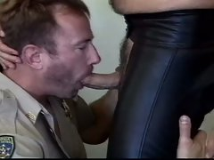 Two policemen filthy bareback practice